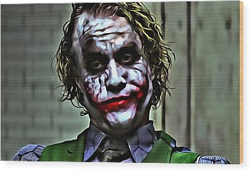 The Joker Wood Print by Florian Rodarte