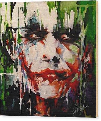 The Joker Wood Print by Lorna Stephens