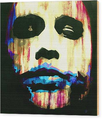 The Joker Why So Serious Wood Print by Brad Jensen