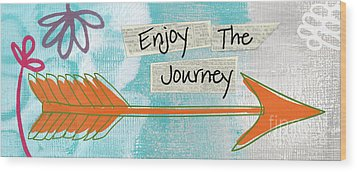 The Journey Wood Print by Linda Woods
