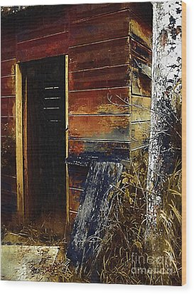 The Killing Shed Wood Print by RC DeWinter
