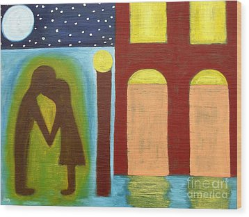 The Kiss Goodnight Wood Print by Patrick J Murphy