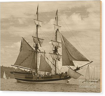 The Lady Washington Ship Wood Print by Kym Backland