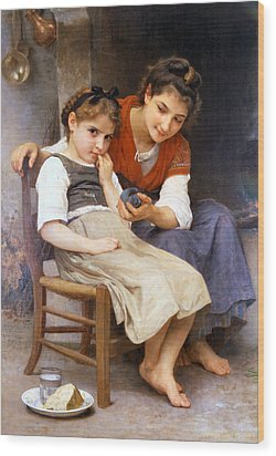 The Little Sulk Wood Print by William Bouguereau