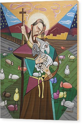 The Lord Is My Shepherd Wood Print by Anthony Falbo