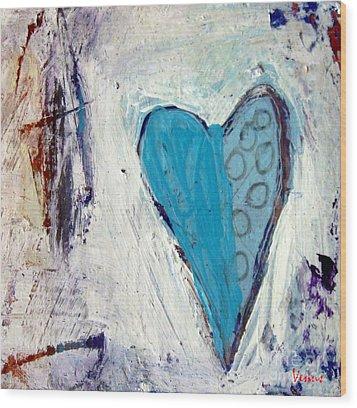 The Love Inside Wood Print by Venus