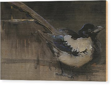 The Magpie Wood Print by Joseph Crawhall