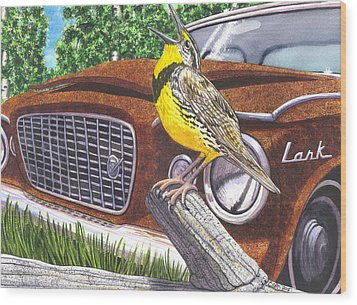 The Meadowlarks Wood Print by Catherine G McElroy