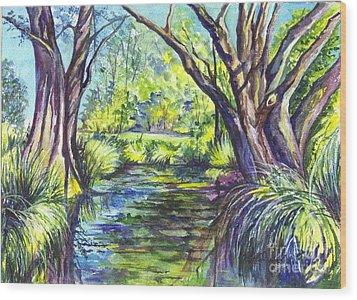 The Melaleucas Wood Print by Carol Wisniewski