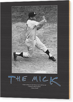 The Mick Mickey Mantle Wood Print by Retro Images Archive