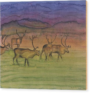 The Mystery Of Migration Wood Print by Carolyn Doe