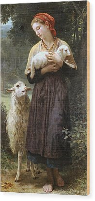 The Newborn Lamb Wood Print by William Bouguereau