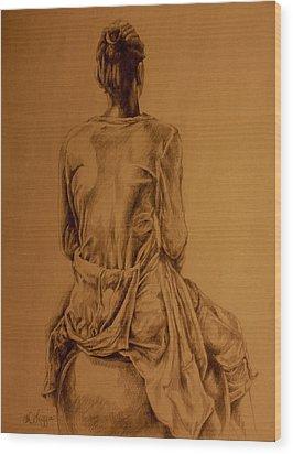 The Observer Wood Print by Derrick Higgins
