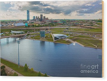 The Oklahoma River Wood Print by Cooper Ross