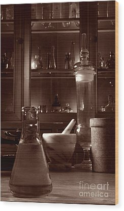 The Old Apothecary Shop Wood Print by Olivier Le Queinec
