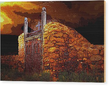 The Old Gates Of Galisteo Wood Print by David Lee Thompson