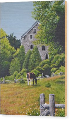 The Old Grist Mill Wood Print by Dave Hasler