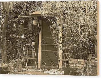 The Old House In Genoa Nevada Wood Print by Artist and Photographer Laura Wrede
