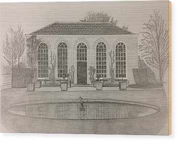 The Orangery Wood Print by Norman Richards