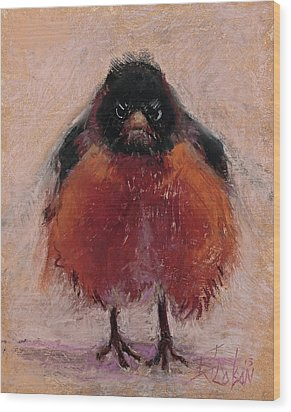 The Original Angry Bird Wood Print by Billie Colson