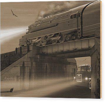 The Overpass 2 Wood Print by Mike McGlothlen