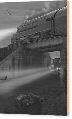 The Overpass Wood Print by Mike McGlothlen