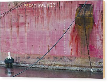 The Peggy Palmer Barge Wood Print by Carolyn Marshall