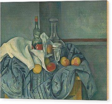The Peppermint Bottle Wood Print by Paul Cezanne