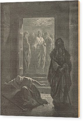 The Pharisee And The Publican Wood Print by Antique Engravings