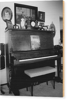 The Piano And Clarinet  Wood Print by Peggy Leyva Conley