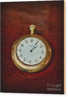 The Pocket Watch Wood Print by Paul Ward