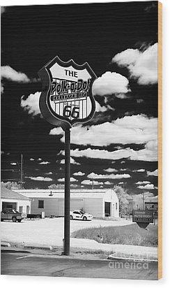 The Polk-a-dot Drive In Wood Print by John Rizzuto