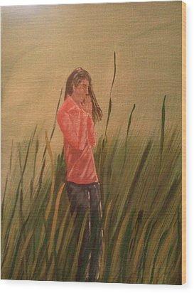 The Prayer Wood Print by Renee McKnight