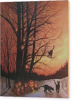 The Pumpkin Tree Wood Print by Tom Shropshire