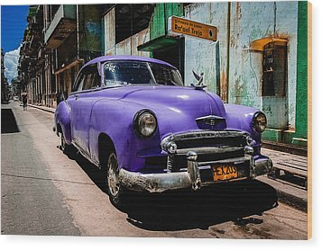 The Purple Boomer  Wood Print by Cecil K Brissette