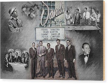 The Rat Pack Wood Print by Viola El