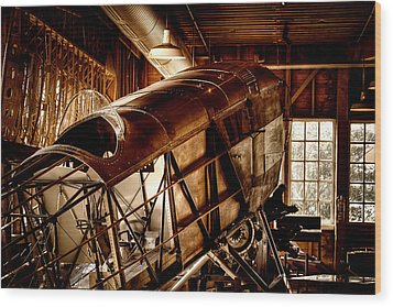 The Red Barn Of The Boeing Company II Wood Print by David Patterson