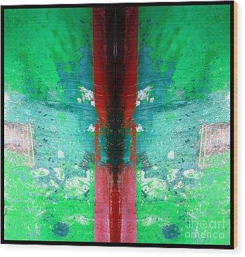 The Red Blade Wood Print by Marcia Lee Jones