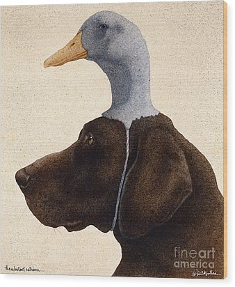 The Reluctant Retriever... Wood Print by Will Bullas