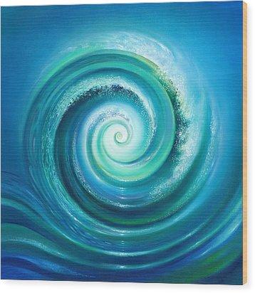 The Return Wave Wood Print by Anna Ewa Miarczynska