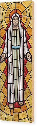 The Risen Christ Wood Print by Gilroy Stained Glass
