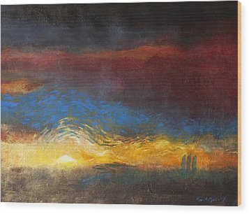 The Road To Emmaus Wood Print by Daniel Bonnell
