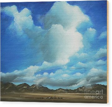 The Rockies Wood Print by Susi Galloway