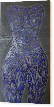 The Sapphire Woman Wood Print by Alison Edwards