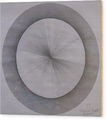 The Shape Of Pi Wood Print by Jason Padgett