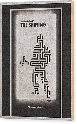The Shining Wood Print by Ayse Deniz