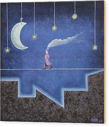The Sleepwalker I Wood Print by Graciela Bello