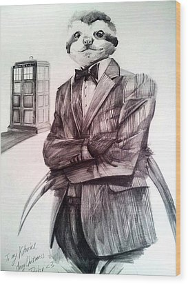 The Sloth Doctor Wood Print by Neal Cormier