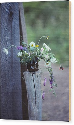 The Still Life Of Wild Flowers Wood Print by Patricia Keller
