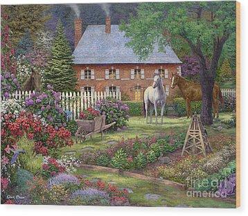 The Sweet Garden Wood Print by Chuck Pinson